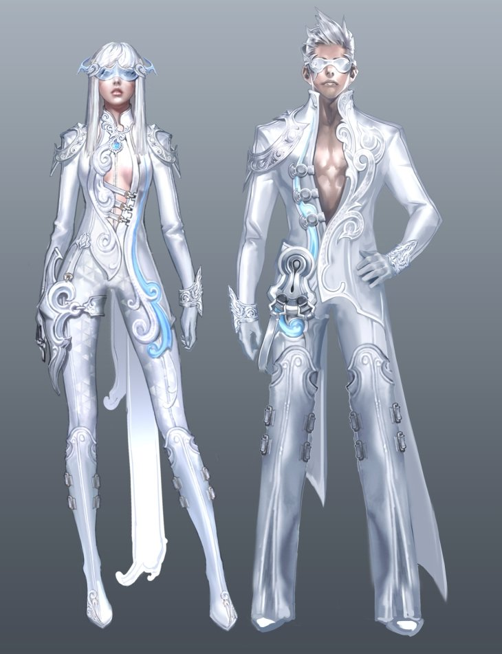 Character Design Aion : New armor sets concept art only gamez network